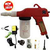 Redline Powder Coating Gun Model EZ50 with Updated Power Supply for U.S.A. and Special U.S. Airline Thread Adapter