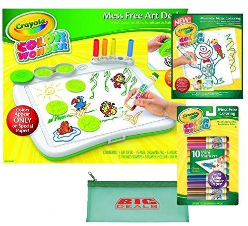 Crayola Color Wonder Mess Free Art Desk With Stamper With