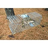 Pet Trex Zinc Live Humane Animal Trap For Racoon Skunk or Cat Catch & Release Trap Almost 37 Inches Long!