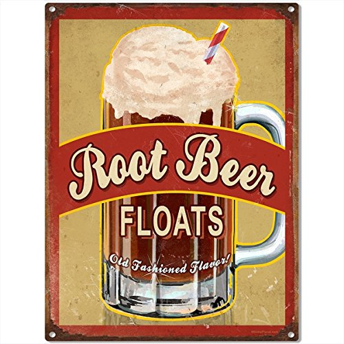 Root Beer Floats Old Fashioned Metal Sign Diner Decor 12 x 16