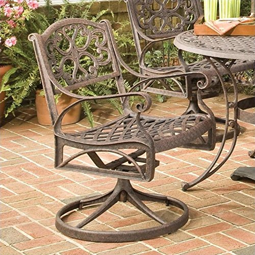 Home styles 5555-53 Swivel Arm Chair Rust Brown Finish