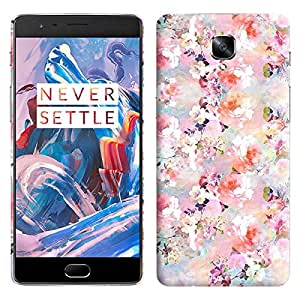 Theskinmantra Floral effect back cover for OnePlus 3/OnePlus Three/1+3