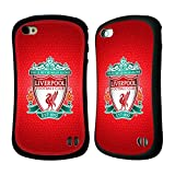 Official Liverpool FC LFC Red Pixel 1 LFC Crest 2 Hybrid Rubber Case Cover for Apple iPhone 4 / 4S