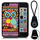 Oksobuy® -The New Apple Iphone 5c Aztec Style and Maya Style Background with Colorful Cute Fashion Owl Soft Silicone Case Cover Skin Protection for the Iphone 5c (Black)-0317