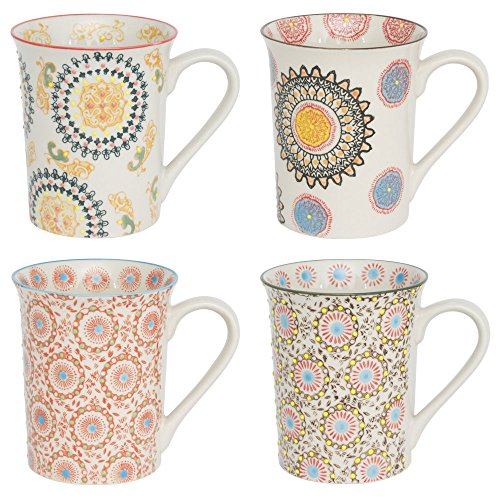 TABLE PASSION - COFFRET 4 MUGS PANAMA HAUTEUR 10 CM
