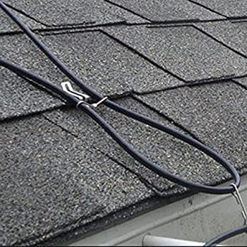 GardenHOME Roof Snow De icing Kit with 160 ft De-icing Cable Protects Roof, Gutters and Downspouts
