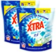 X Tra Total 2 en 1 Fra�cheur Minidou Lessive Liquide en Doses avec Adoucissant Doypack 28 Lavages 28 Capsules - Lot de 2