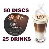 50 x Tassimo Baileys Latte Macchiato Pods T-Discs, 25 Drinks - Sold Loose