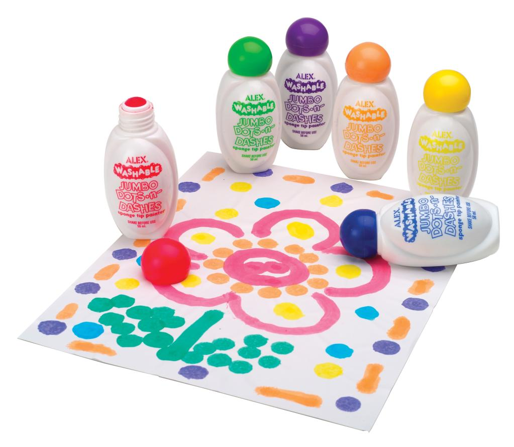 Toys For Painting : Dab dot and dash with the washable paint bottles
