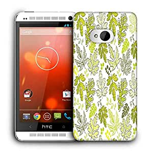 Snoogg Abstract Multicolor Leaves Printed Protective Phone Back Case Cover For HTC One M7