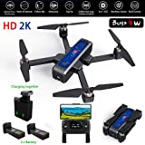 MJX Bugs 4W Foldable Drone with GPS, Full HD 2K 5G WiFi Camera Record Video Bugs GO App Operation Altitude Hold Track Flight 3400mAh Battery Double Charging OLED Screen Remote Control Alarm Function