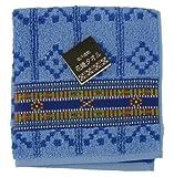 吸汗速乾 花織タオル(青)×2枚