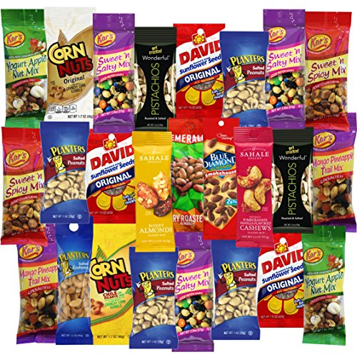 Snack On Nuts & Seeds Care Package Grab And Go Variety Pack (25 Count) (Nut Packs compare prices)