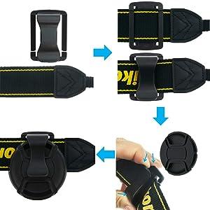 SIOTI 58mm Lens Cap with 2pieces Caps + Cap Clip + Cleaning Wiper for Nikon/Canon/Sony/Fuji/Leica/Tamron/Pentax/Panasonic/Olympus etc.Camera Lens (Color: 1 Single, Tamaño: 58mm)