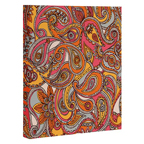 "DENY Designs Valentina Ramos Spring Paisley Art Canvas, 8"" x 10"""