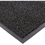 """Notrax 146 Encore Entrance Mat, for Inside Foyer Area, 4' Width x 8' Length x 5/16"""" Thickness, Black"""