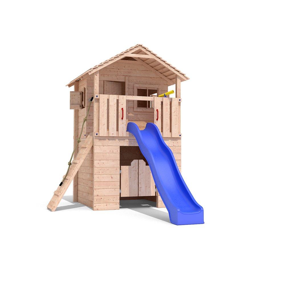 Spielturm BARIZIO Baumhaus Stelzenhaus Schaukel Rutsche Spielhaus 1,50m Podest (ohne Schaukelanbau) jetzt kaufen