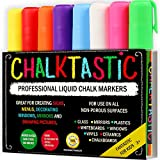 ChalkTastic CHALK MARKERS & Pens by FANTASTIC ChalkTastic BEST for Kids Art Menu Board Bistro Boards - 8 Glass & Window Markers & Erasable Pens - Reversible 6mm Fine or Chisel Tip - Bright Neon Colored Plus White