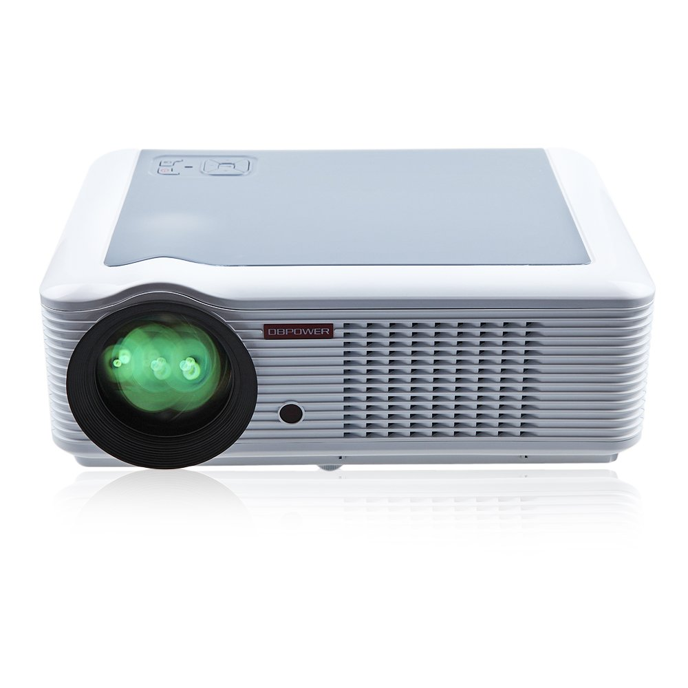 DBPOWER 1080P Video Projector 854*540 2000 Lumens HD Home Theater Multimedia LCD Projector HDMI USB TV DVD WII