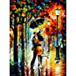 C-Pioneer DIY 3D Diamond Sticker Rhinestone Cross Stitch Painting Kit Rain Lovers Pattern Home Decor