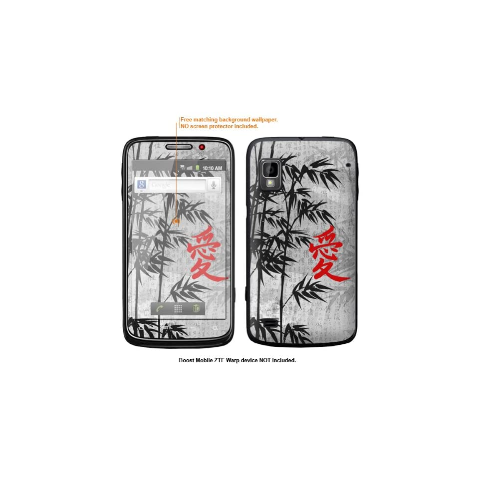 Protective Decal Skin Sticker for ZTE Warp  Boost Mobile version  case cover ZTEwarp 576