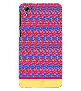 PrintDhaba Typography D-1915 Back Case Cover for HTC DESIRE 826 (Multi-Coloured)