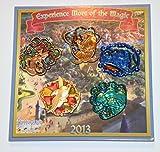 NEW WDW Disney World Park Pin Trading 2013 Fantasyland Passholder Stained Glass 5 Pin Set & Dumbo Dollar