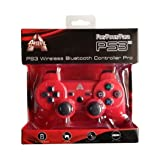 Arsenal Gaming PS3 Wireless Rechargeable Bluetooth Controller, Red AP3CON4R