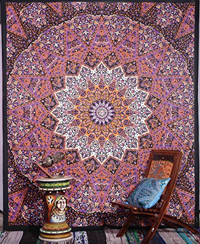 Indian Star Mandala Psychedelic Tapestry, Hippie