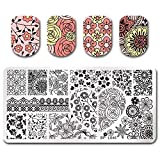 Summer Fruit Nail Art Stamping Template Tropical Punch Pattern Rectangle Image Plate Stamping Polish Needed BP-L046 (Color: BP-L046)
