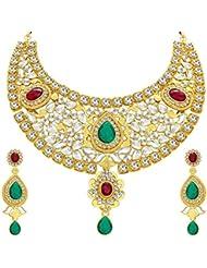 Sukkhi Classic Gold Plated Kundan Necklace Set For Women