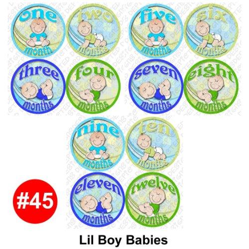 BOY BABIES Baby Month Onesie Stickers Baby Shower Gift Photo Shower Stickers, baby shower gift by OnesieStickers