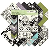 K&Company Black & Ivory Designer 12-by-12-Inch Paper Pad