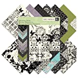 K&Company Black & Ivory Designer 12-by-12-Inch Paper Pad