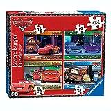 Disney Cars - Puzzles para Ni�os - Box 4 en 1 - Lightning McQueen & Friends
