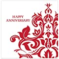 Creative Converting 36 Count 3 Ply Happy Anniversary Lunch Napkins