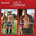 Cowboy All Night & A SEAL's Desire Audiobook by Vicki Lewis Thompson, Tawny Weber Narrated by Abby Craden, Alexander Cendese