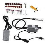 Grinder, TBVECHI 55PC Flex Shaft Grinder Set Corded Electric Flex Shaft Grinder Set Variable Speed Sanding Drilling