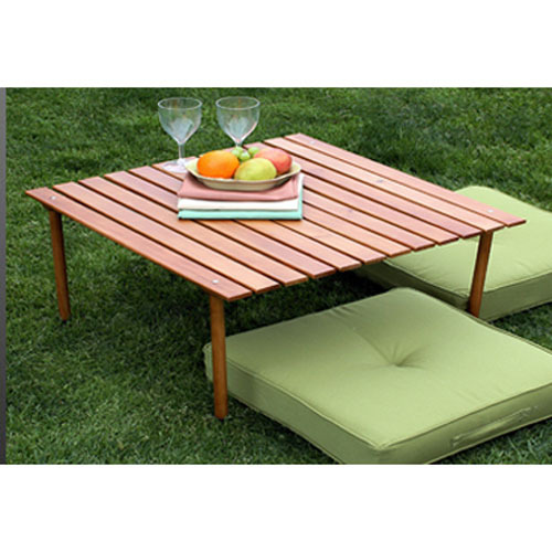Table in a bag w2716 original low wood portable table with carrying bag brown - Low portable picnic table in a bag ...