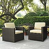 Crosley-KO70005BR-2-Piece-Palm-Harbor-Outdoor-Wicker-Seating-Set-Brown