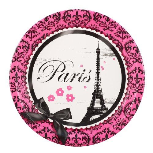 Paris Damask Dinner Plates (8) - 1