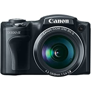 Canon PowerShot SX500 IS 16.0 MP with 30x Wide-Angle Optical Image Stabilized Zoom and 3.0-Inch LCD Sale