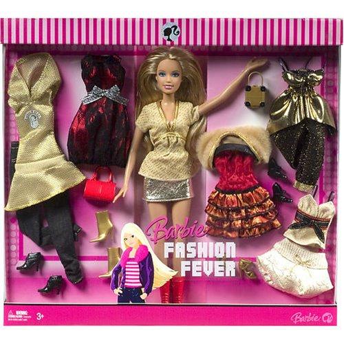 Exlcusive Barbie - Fashion Fever - Trend Fashion Giftset Gold Outfit + 1 Doll - Buy Exlcusive Barbie - Fashion Fever - Trend Fashion Giftset Gold Outfit + 1 Doll - Purchase Exlcusive Barbie - Fashion Fever - Trend Fashion Giftset Gold Outfit + 1 Doll (Barbie, Toys & Games,Categories,Dolls,Fashion Dolls)