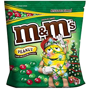M&m's Milk Chocolate Holiday Christmas Mix Candy 56 Oz Bag 3.5 Pounds