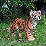 "15"" Classic Wildlife Feline Tiger Cub Home Garden Statue Sculpture Figurine"