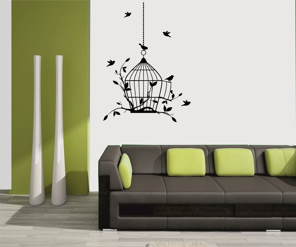 Dimensional Wall Stickers Tree Bird Sticker Sofa Wall