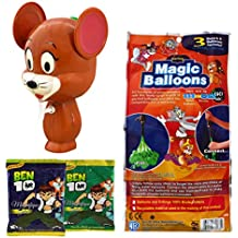 Tom And Jerry Holi Water Gun Pichkari Licenced Product With 111 Magic Balloon And 2 Ben 10 Gulal