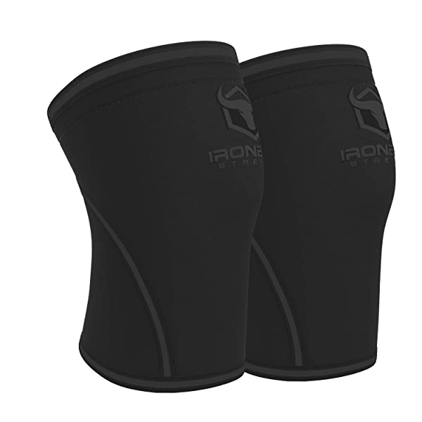 Knee Sleeves 7mm (1 Pair) - High Performance Knee Sleeve Support for Weight Lifting, Cross Training & Powerlifting - Best Knee Wraps & Straps Compression - for Men and Women (Black/Charcoal, X-Large) (Color: Black/Charcoal, Tamaño: X-Large)