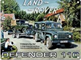 LAND ROVER DEFENDER 110 METAL STEEL ADVERTISING WALL SIGN
