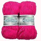 Vardhman Acrylic And Nylon Knitting Wool, Pack Of 2 (Magenta) (200 Gm)